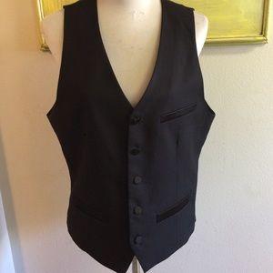 H&M 40R black suit vest